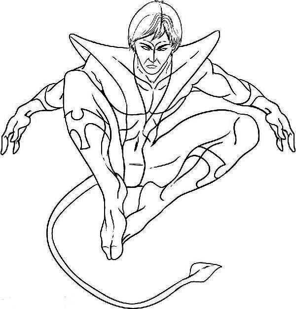 coloring book pages x man - photo#15