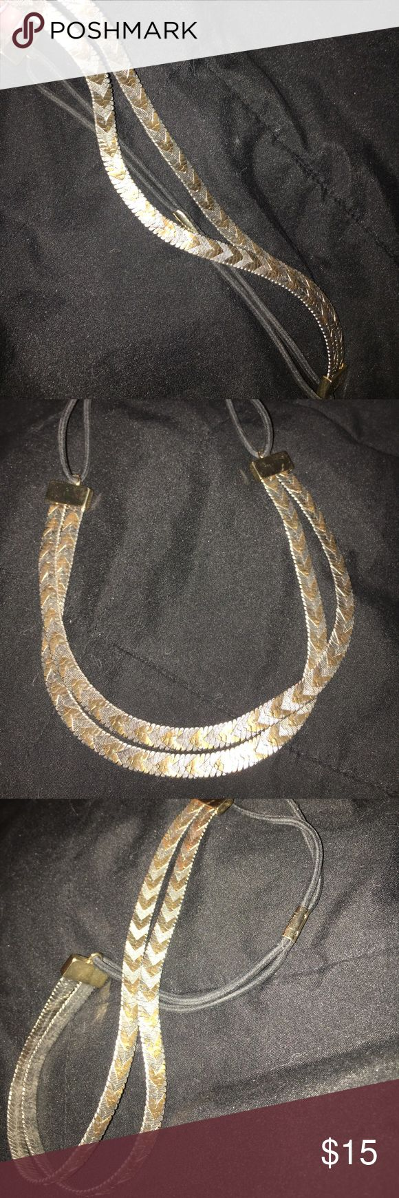 Boho Metal Headband NWOT. Silver/Brushed Gold. Metal Chevron Headband with elastic back. Never worn. To be worn over hair or under. Attached is picture of similar item and how it was to be worn. Perfect for festival season! Nordstrom Accessories Hair Accessories