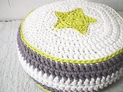 Modern Crochet Pouf