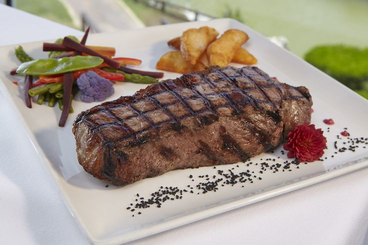 Ribeye - cowboy cut, CAB bone-in angus, chargrilled to your liking with mocha guinness sauce