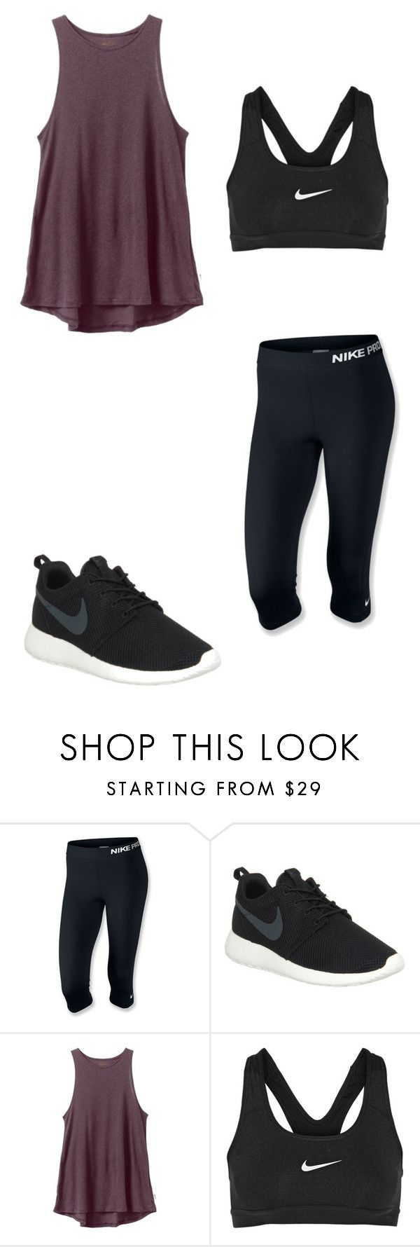 """Parkour Outfit"" by sarahmae-2307 ❤ liked on Polyvore featuring NIKE and RVCA"