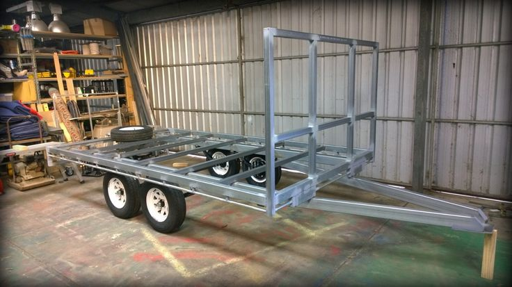Brenton built this compact tandem trailer using our flat for Tandem flooring