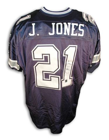Autographed Julius Jones Dallas Cowboys Blue Reebok Authentic Jersey