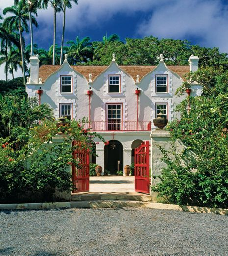 This is St. Nicholas Abbey, the inspiration for Tempest Hall. It was built in 1658 in the Jacobean style, with four working corner fireplaces - quite unnecessary on Barbados!