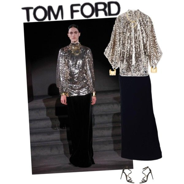 A fashion look from September 2016 by andreearaiciu featuring Tom Ford, Charlotte Chesnais and Jennifer Fisher
