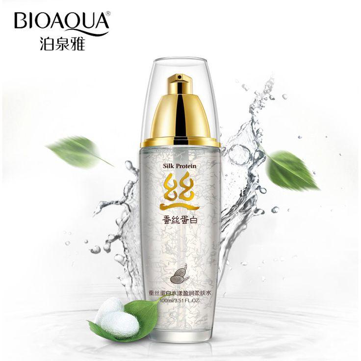 BIOAQUA Brand Skin Care Silk Protein Hyaluronic Acid Liquid Anti Wrinkle Serum Whitening Moisturizing Anti Aging Toner 100g