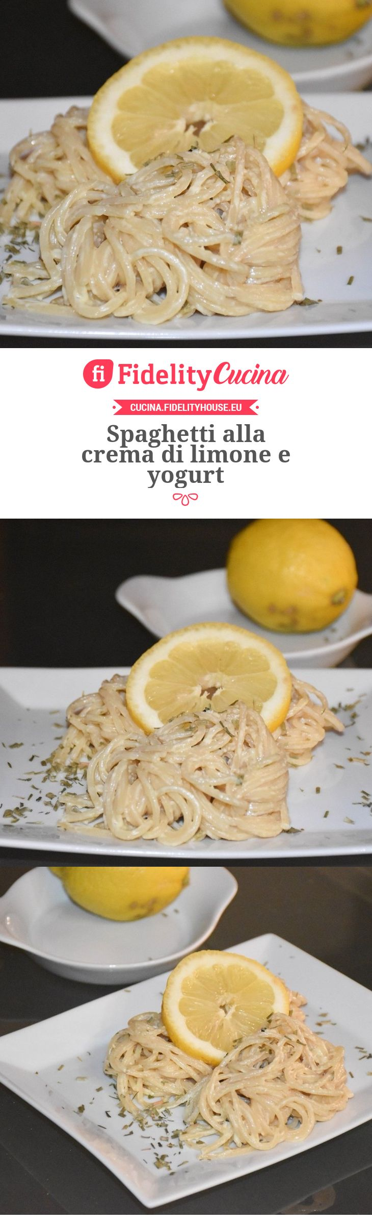 Spaghetti alla crema di limone e yogurt