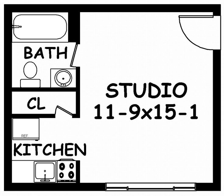 Small Studio Apartment Floor Plans Studio Small