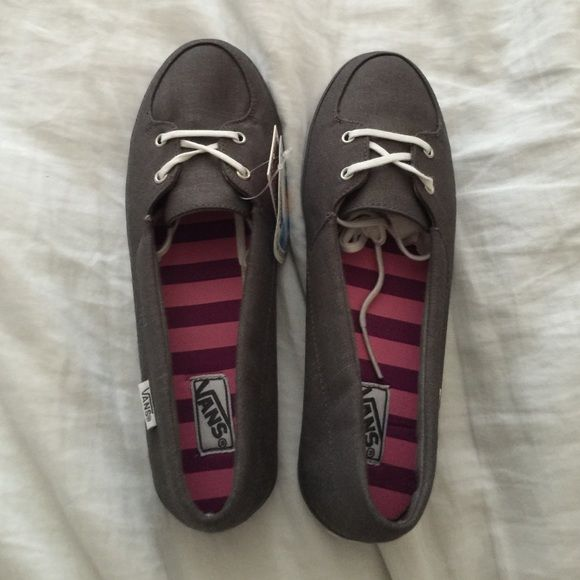 NWT VANS Slip ons NWT VANS Slip on shoes. Never used. Color: gray. Ortholite performance insoles. Vans Shoes Sneakers