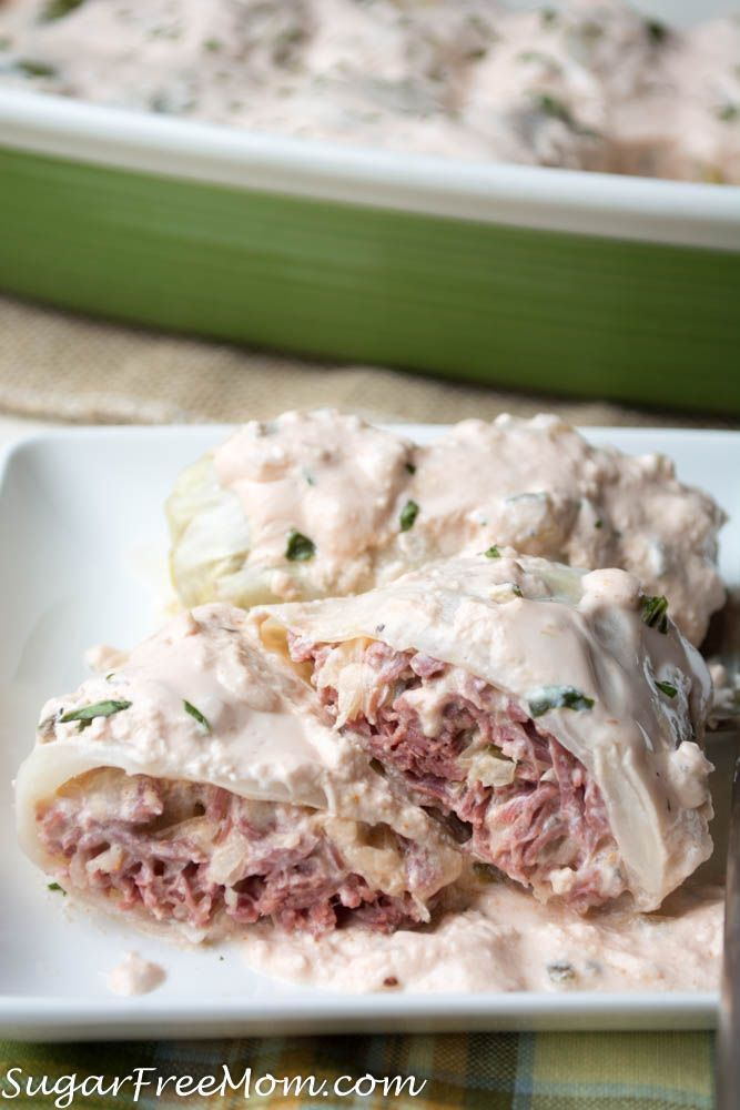 Low Carb Reuben Cabbage Rolls Low carb, Gluten Free, THM, Atkins, Keto