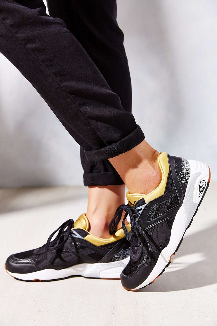 puma trinomic r698 black gold