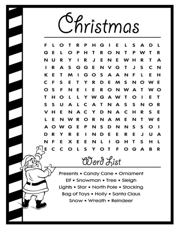 26 best Christmas Word Search images on Pinterest Christmas word