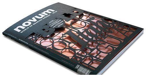 Portada de revista con papel de aluminio cortado con láser #diseño #editorial