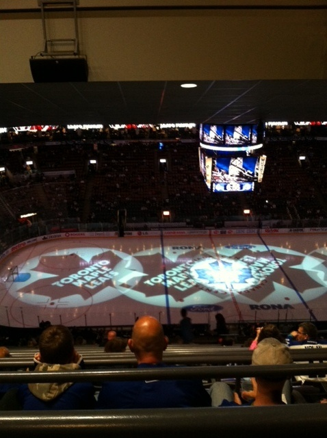 Nosebleed seats at a Toronto Maple Leafs game. They're not even that bad.