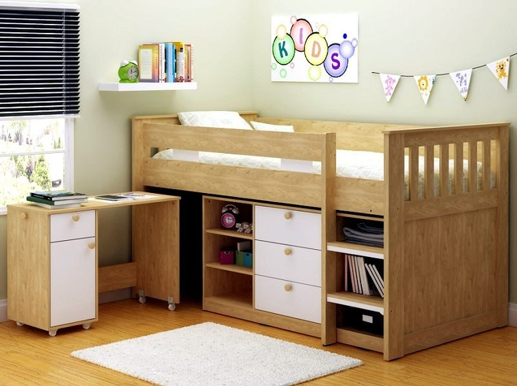 Are Cabin Beds The Solution For Small Bedrooms: Cosmos Cabin Bed With Storage And Desk