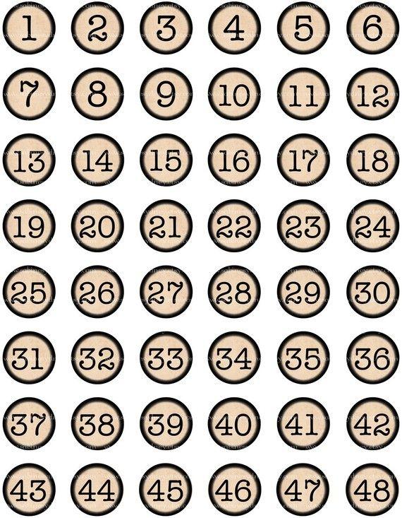 DIY?  - vintage typewriter key numbers/ table markers