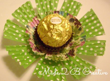 DIY Ferrero Rocher Flower favortable Decoration For May
