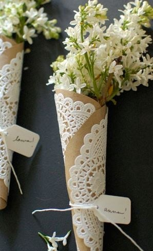 Wedding Style Guide Image Inspiration: A great place setting idea...i actually thought it was a boutineer haha that would be cute