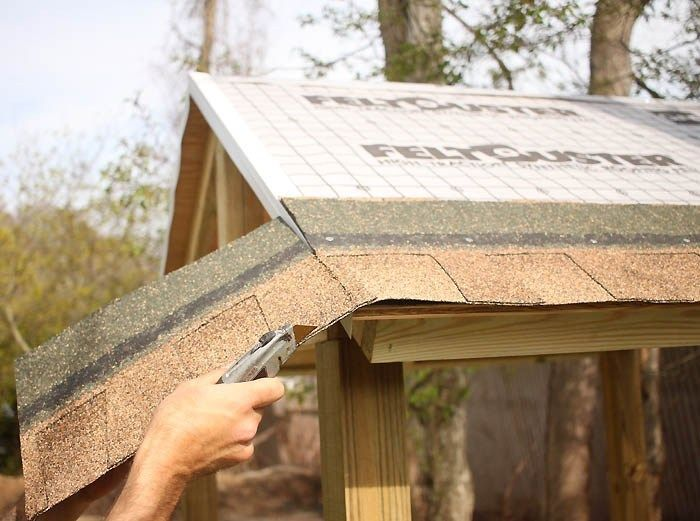 How To Shingle A Playhouse Or Shed Roof Gina Michele Shed Roof Repair Play Houses Shed Roof