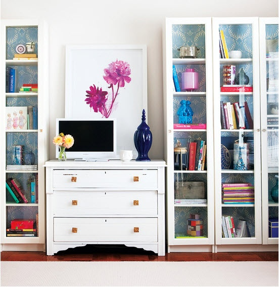 Using this wallpaper idea for the back of my ikea shelves.