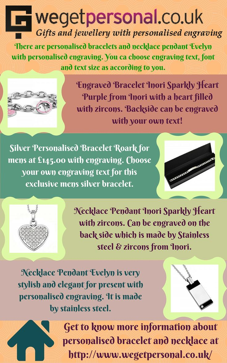 Do you want to buy personalised bracelet and necklace? We Get Personal UK is the best place to purchase engraved bracelet and necklace which can be engraved as according to your choice. #personalised bracelet #engravedbracelet #personalisednacklace #engravednacklace