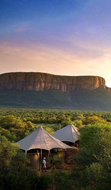 Marataba Safari Lodge in Zuid-Afrika. Durf jij hier op één oor tussen de wilde dieren tijdens je roadtrip?