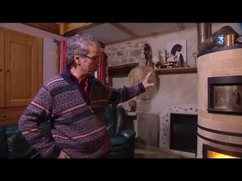 Prioriterre poêle de masse, chauffage bois haute performance - YouTube
