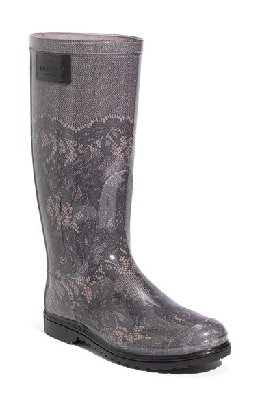 Valentino Lace Print Rain Boot (Women) available at #Nordstrom