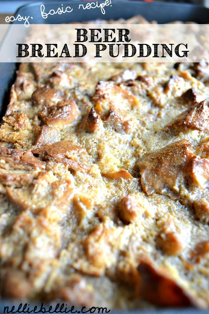 Make a basic bread pudding with left-over bagels. Beer is the secret ingredient! ~nelliebellie.com
