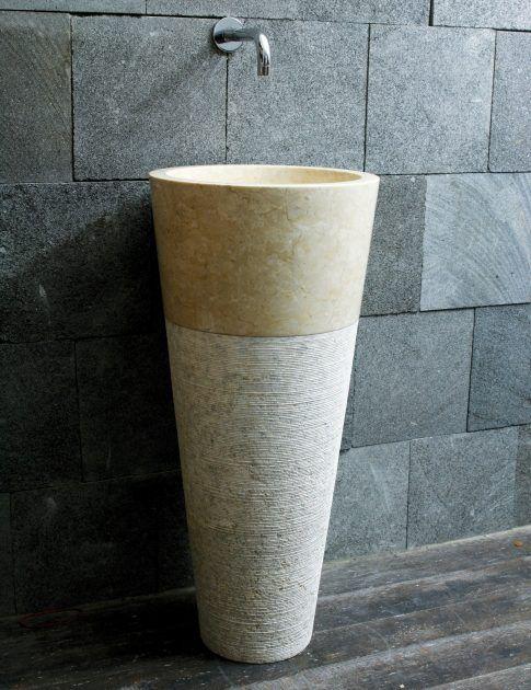 die besten 25 waschbecken stein ideen auf pinterest stein sp le naturstein waschbecken und. Black Bedroom Furniture Sets. Home Design Ideas