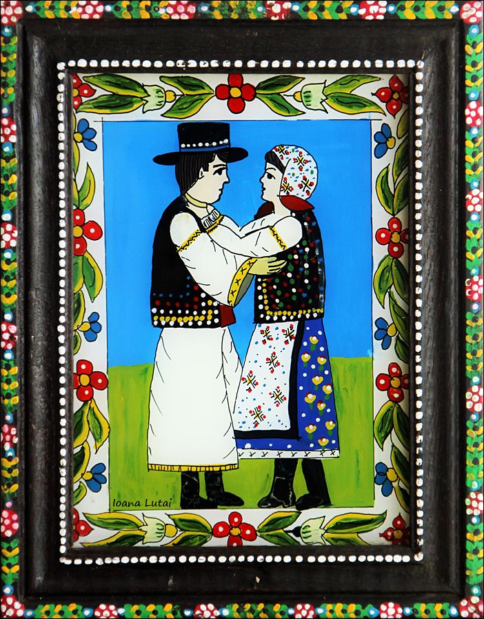 Pictura naiva 07 -  Ioana Lutai - Icoane pe sticla Sapanta - foto Cristina Nichitus Roncea