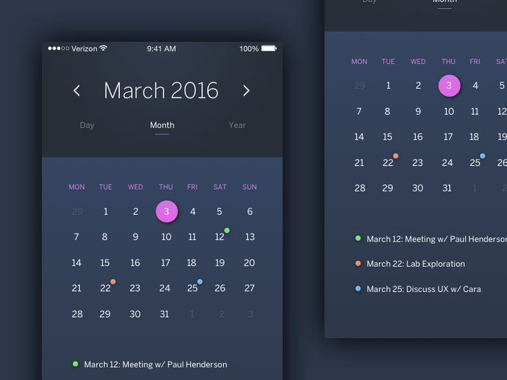 Calendar App by Pontus Börjesson