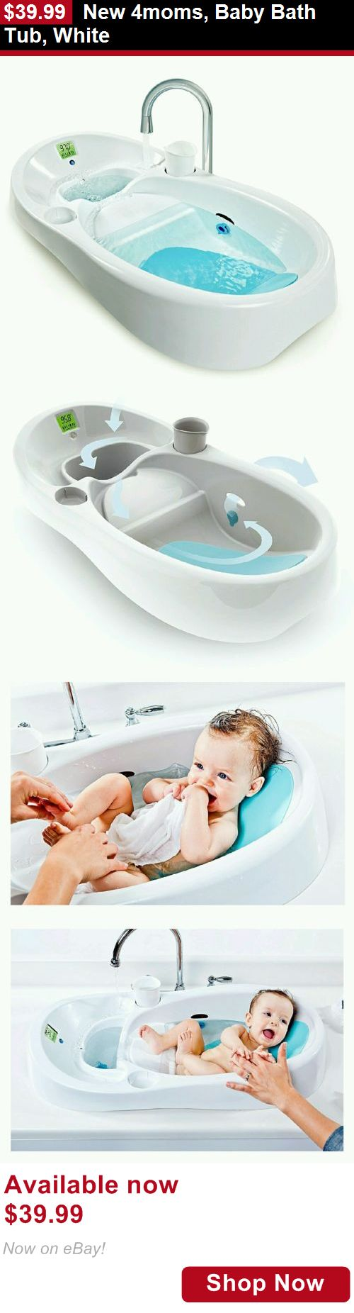 Baby Bath Tubs: New 4Moms, Baby Bath Tub, White BUY IT NOW ONLY: $39.99