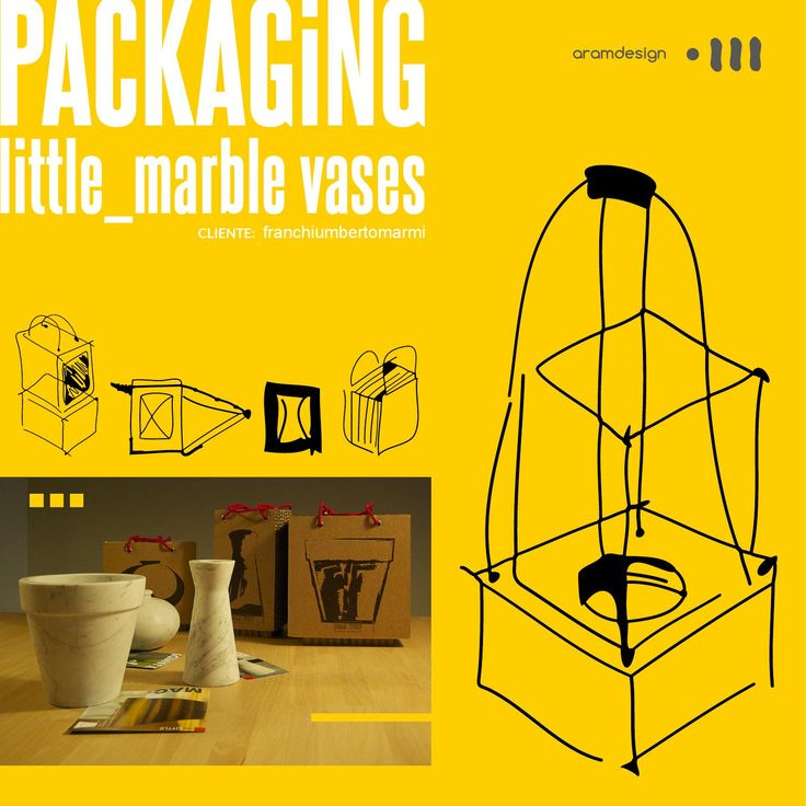 Packaging / little_marble vases  packaging for marble vases / packaging per vasi in marmo