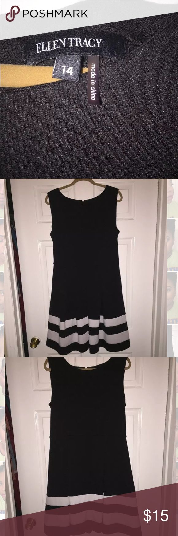 Ellen Tracy Black and White Tea Dress Size 14 Channel your inner Audrey Hepburn with this Ellen Tracy Tea Dress. Dress it up with heels or down with sandals. Ellen Tracy Dresses