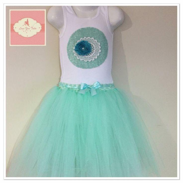 Mint  3/4 tutu skirt  Available on the website  www.loveyoututu.com.au