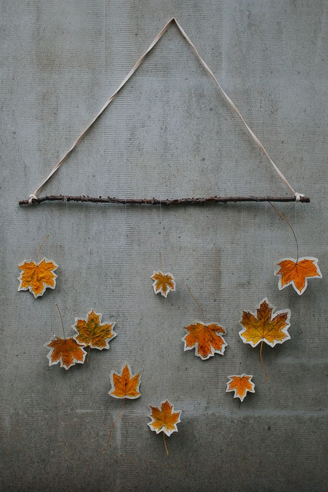 Blätter Mobile für den Herbst | DIY Herbst Dekoration | DIY sewing autumn leaves dekoration tutorial