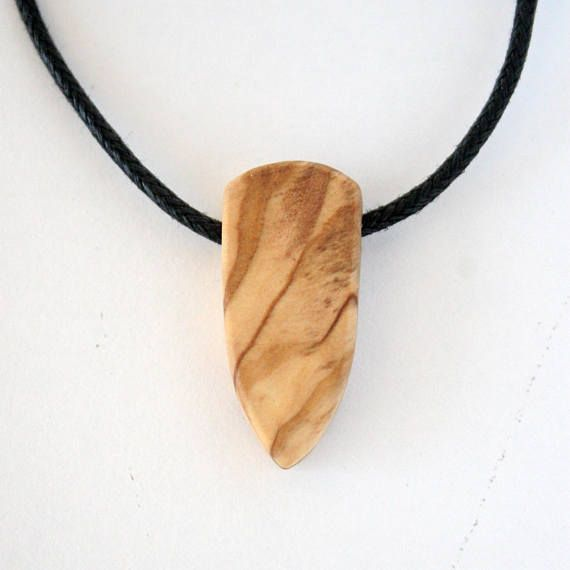 Olive Wood Necklace Wooden Jewelry Wood Necklace Boho