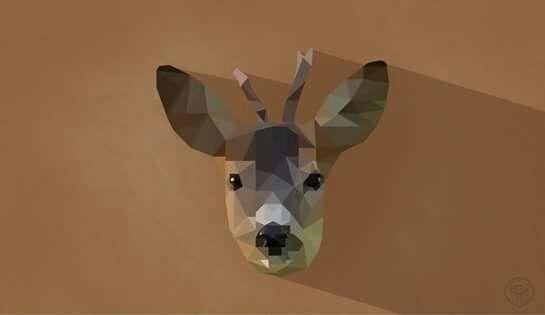 low poly deer illustration modern nature