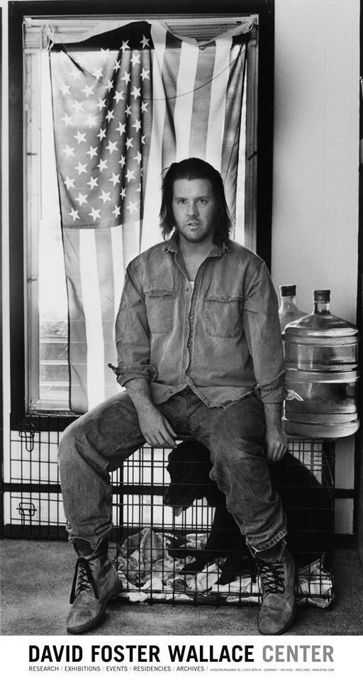 David Foster Wallace + flag + dog #DavidFosterWallace #TheCage