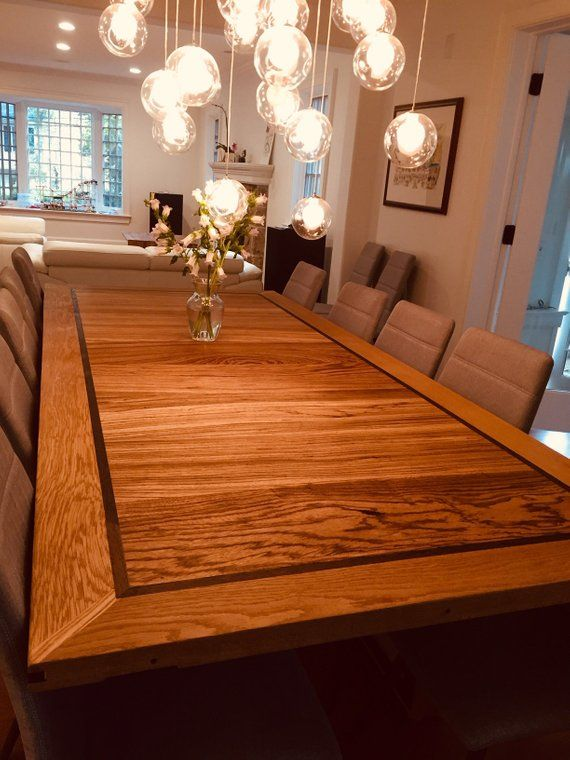 Custom Wood Table Custom Dining Table Large Dining Table Etsy