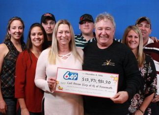 Members of family from Roseneath share a $12.000.000 lottery windfall
