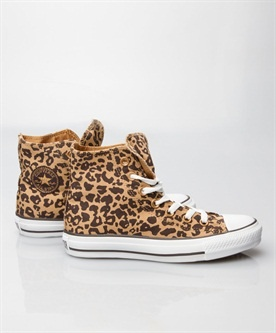 Cheetah Converse Chuck Taylor High Tops