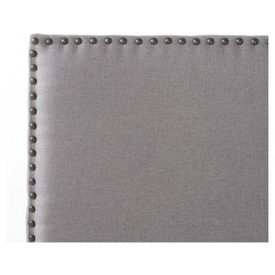 Hilton Upholstered Headboard - Light Grey - Full/Queen - Christopher Knight Home, Light Gray