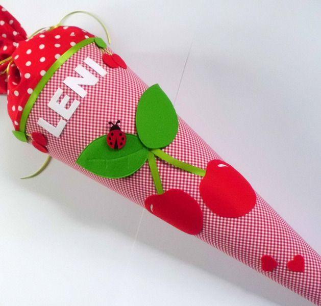 """Schultüte++""""+Sweet+Cherry+""""+Kirsche+von+Home-sweet-love+auf+DaWanda.com"""