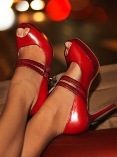 Peep Toe mary jane, not sure that this link has these shoes but I love em! The leather looks worn and I love worn leather :)