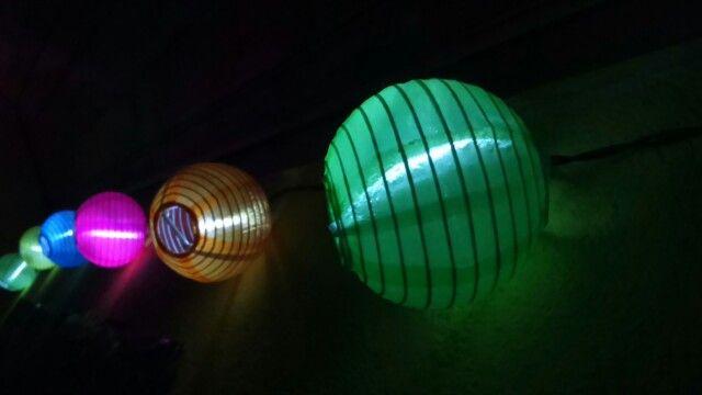 Lampions in my bedroom