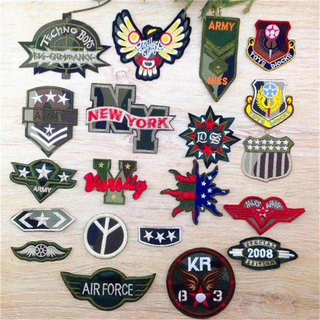 Los amantes libres del envío ropa militar logo bordado remiendo moda hierro en parches para bricolaje tela de la ropa