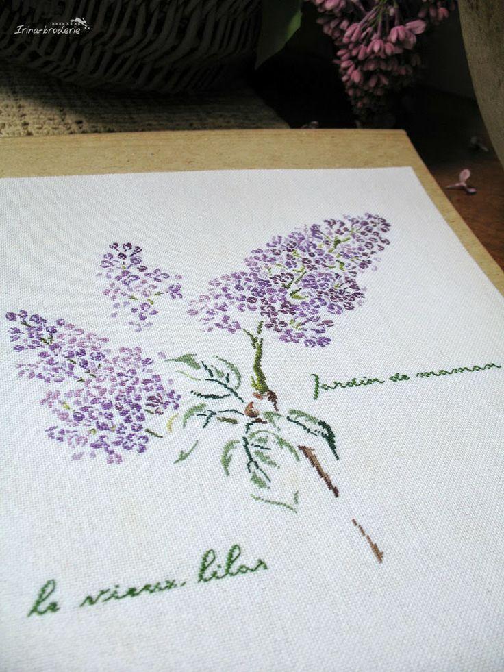 Kreuzstich Lavendel Blumen Sommer Cross Stitching Summer Lavendar Flowers