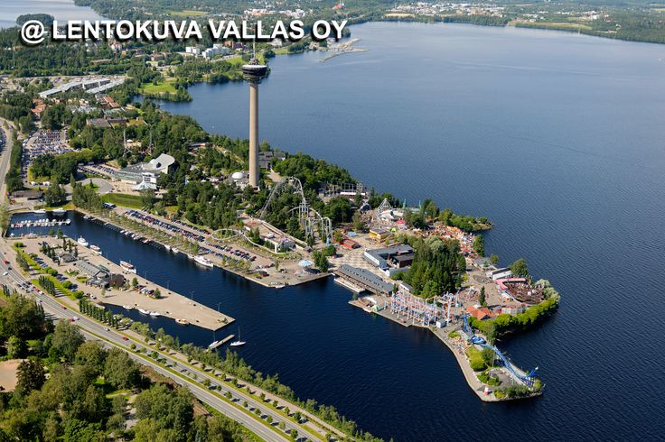 Tampere, Särkänniemi ja Näsinneula Ilmakuva: Lentokuva Vallas Oy